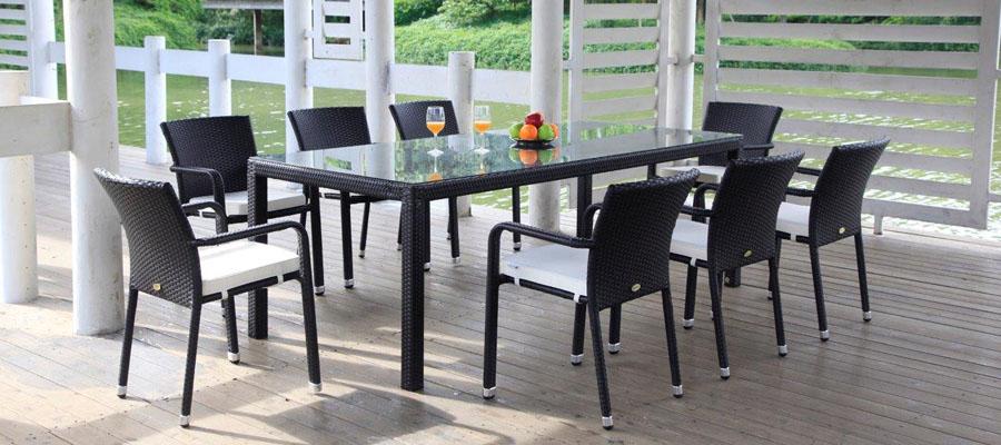 rattan tisch affordable amsant gartentisch rattan grau muster terrazas in paddington lounge. Black Bedroom Furniture Sets. Home Design Ideas