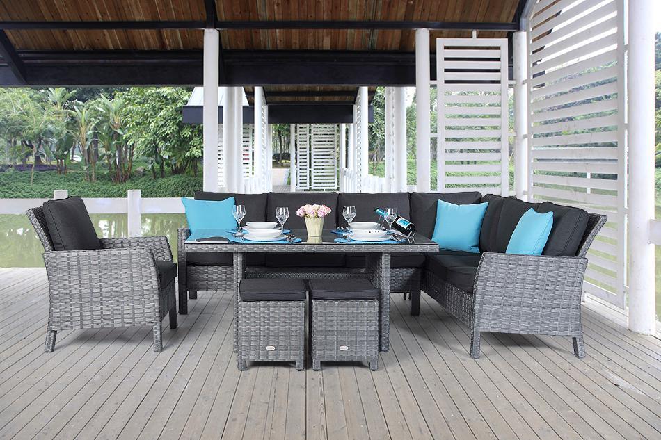 Rattan Lounge Dining Mix Grau Rattan Gartenmöbel Online Kaufen